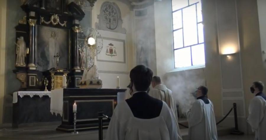 Adoracja w Archikatedrze w Gdańsku- Oliwie